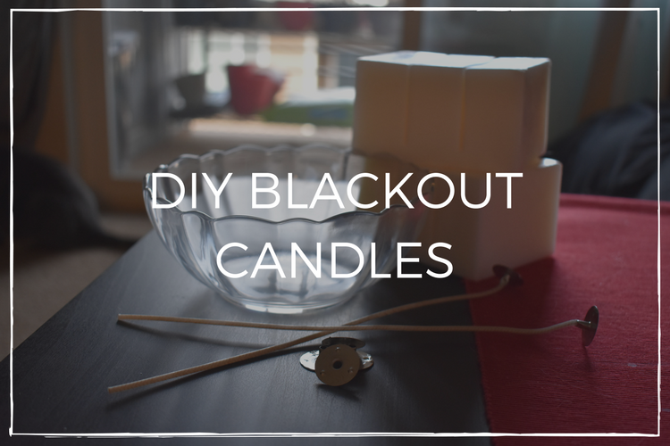 diy blackout candles