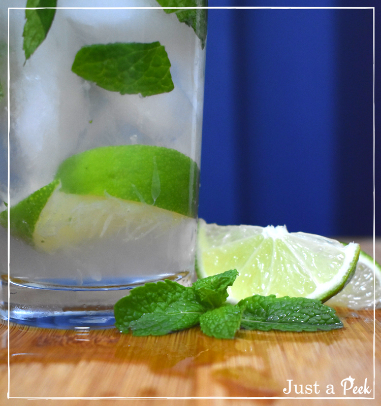 Mojito recipe closeup lime mint
