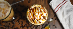 chocolate caramel hazelnut latte recipe