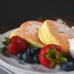 Japanese Fluffy Souffle Pancakes Gluten Free Recipe Image