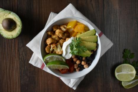 unedited burrito bowl photo
