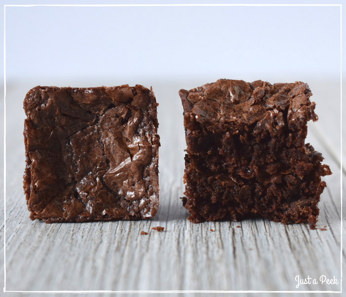 Betty Crocker review gluten free brownie cross section