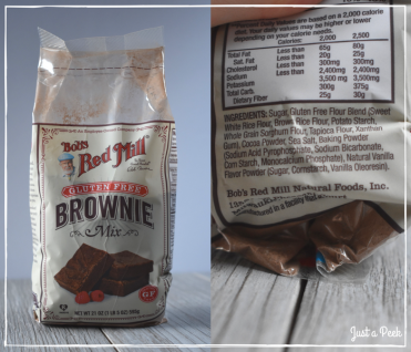 Bobs Red Mill review gluten free brownie box