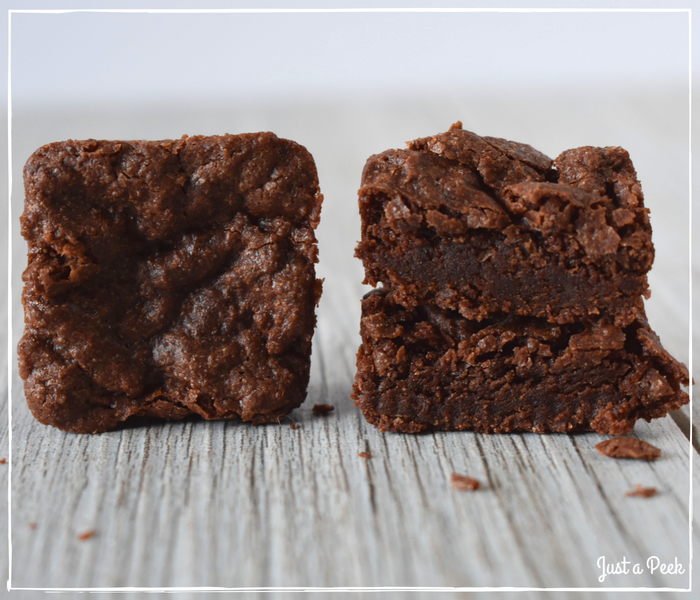 Bobs Red Mill review gluten free brownie cross section