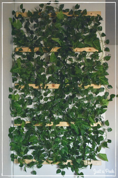 Faux Vine Wall DIY 4
