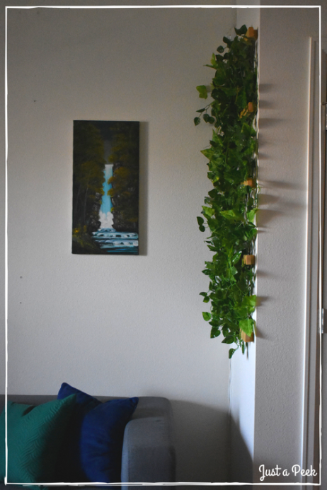 Faux Vine Wall DIY 7