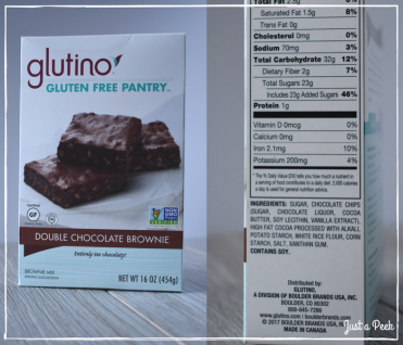 glutino review gluten free brownie box