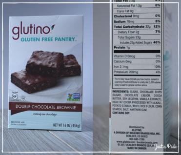 glutino review gluten free brownie box