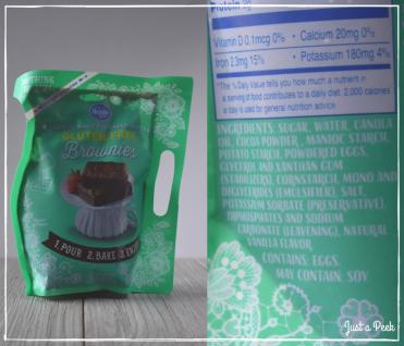 Kroger review gluten free brownie box