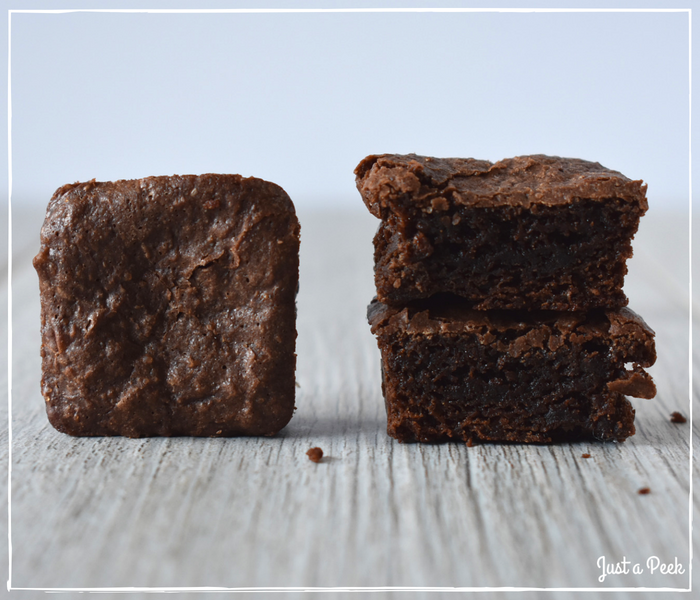 Kroger review gluten free brownie cross section