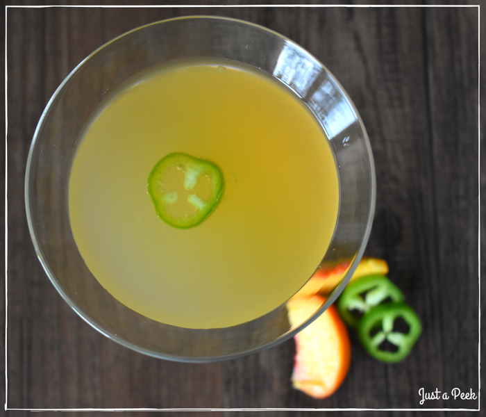 Peach Jalapeno Gin Drink Recipe 4