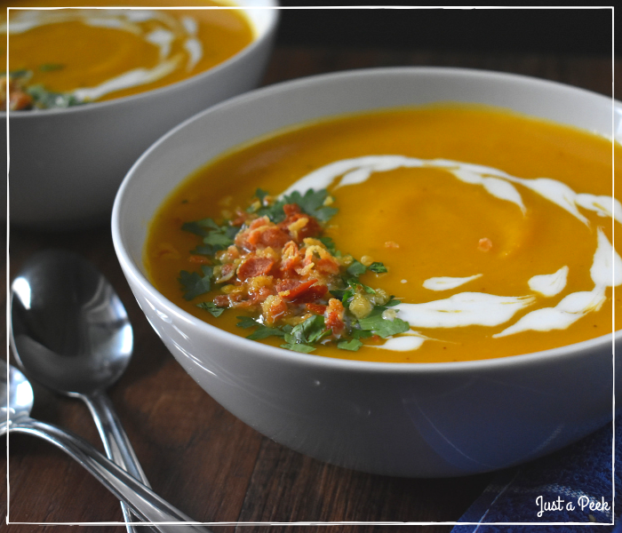 Butternut squash fall soup recipe 2