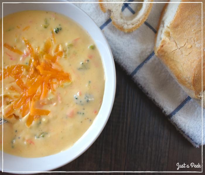 Copycat Panera Cheddar Broccoli Soup Recipe 1