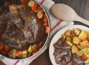 Easy slow cooker Recipe Meat Potatoes Carrots Make Ahead