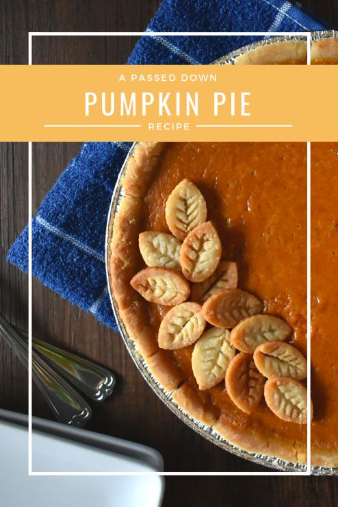 pumpkin pie recipe pinterest