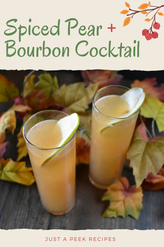 Spiced Pear and Bourbon Cocktail Pinterest