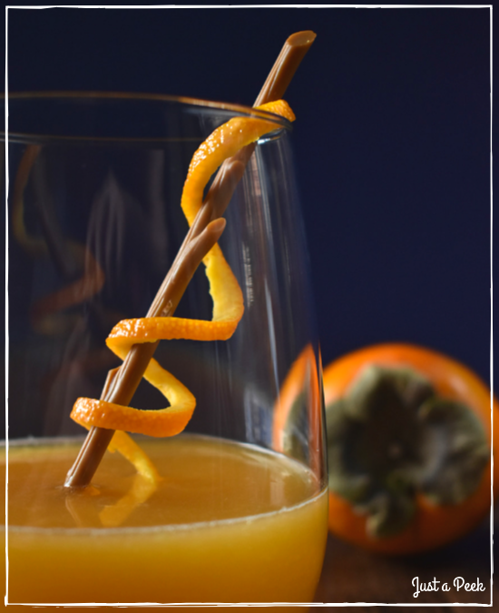 fall cocktail persimmon cognac recipe vanilla orange drink interesting