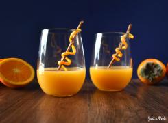 fall cocktail persimmon cognac recipe vanilla orange drink interesting