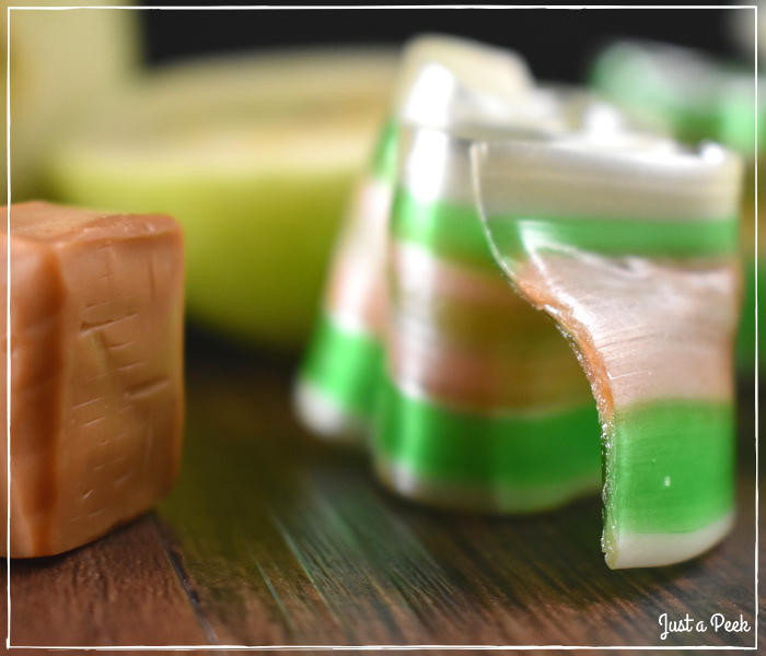 Caramel Filled Apple Ribbon Candy Recipe 1