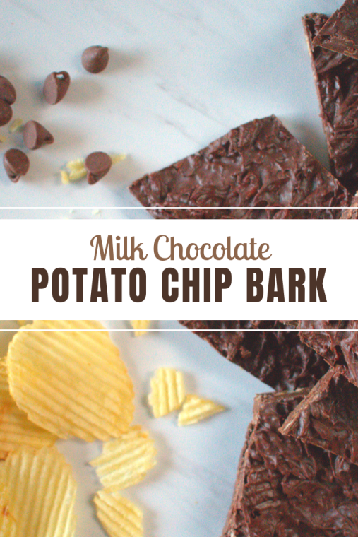 bark chocolate potato chip salty sweet treat gift food candy