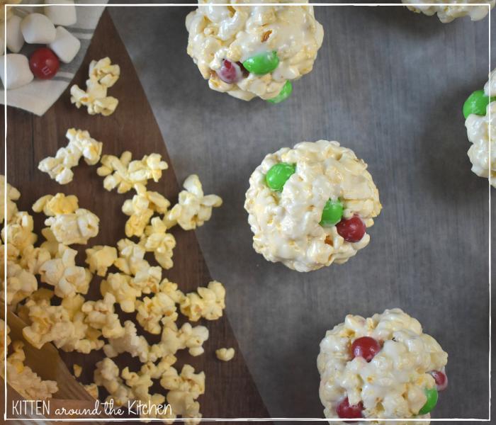 marshmallow popcorn balls holiday Christmas treats goodies gift food candy