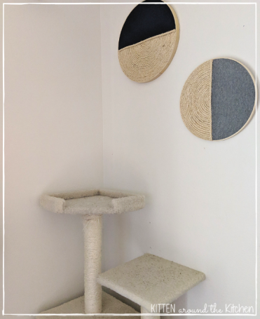 DIY Cat Round Wall Hanging Scratching Post Cat Tree 5