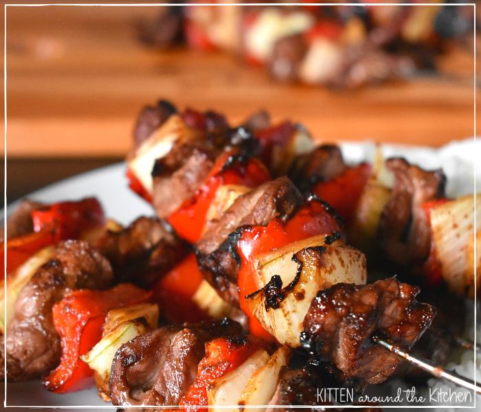sweet soy sauce glazed kebabs