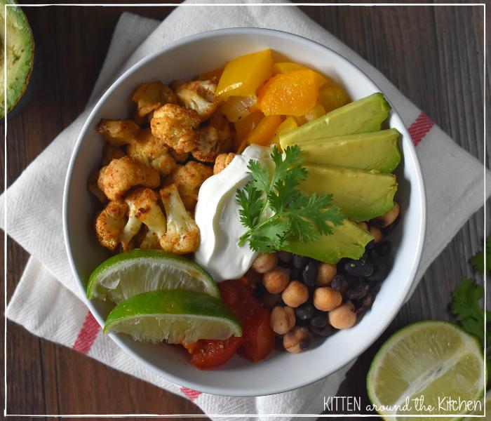 Vegan Fajita Burrito Bowl