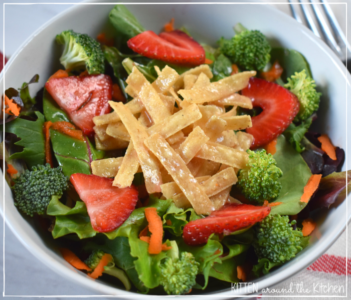 blush wine vinaigrette summer strawberry salad